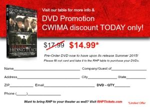 CWIMA DVD Offer - Back rev